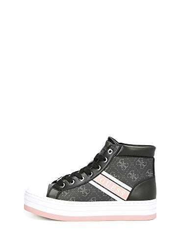 Guess FL6BRRELE12 Platform Zeppa Alte Sneakers Scarpe Pelle logata Donna 37/Nero