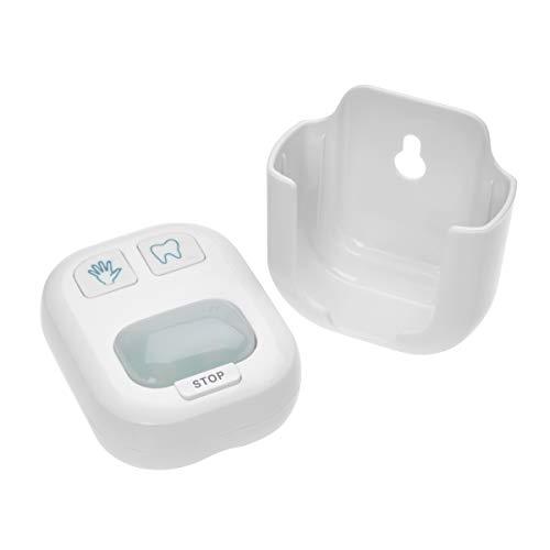 TFA Dostmann Händewasch- und Zahnputz-Timer, 38.2046.02, zur hygienischen Reinigung der Hände/Zähne, geeignet für Kinder und Erwachsene, Befestigung ohne Bohren, weiß