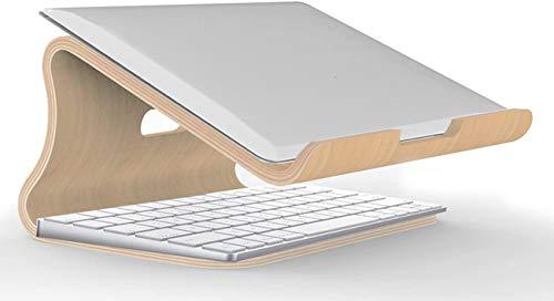 SHOP OF DONG Soporte De Madera para Computadora Portátil, Refrigeración por Ventilación Soporte Ergonómico para Computadora Portátil Elevador para Computadora Portátil Adecuado para Tabletas De 12-16