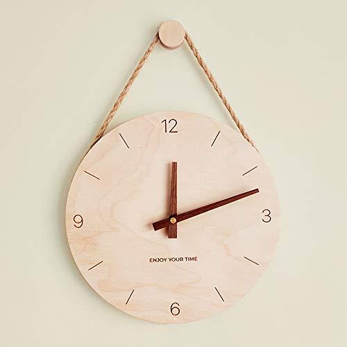 siqiwl Reloj de Pared Reloj De Pared De Madera Nórdico Japonés Relojes Creativos Calientes Hogar Sala De Estar Reloj Decoración Regalos Creativos para Decoración del Hogar