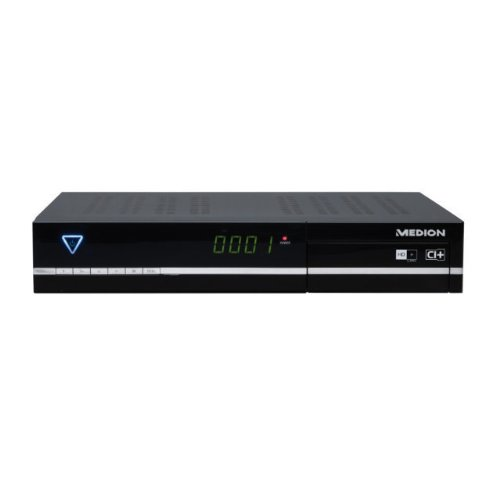 Medion Life P24006 HD Satelliten-Receiver mit 500GB Festplatte (LED-Display, DVB-S2, HDMI, USB 2.0, CI+ Slot)