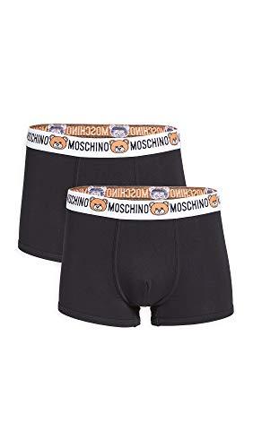 Moschino Boxer Uomo Underwear Stampa Teddy Bear Nero E20MO24