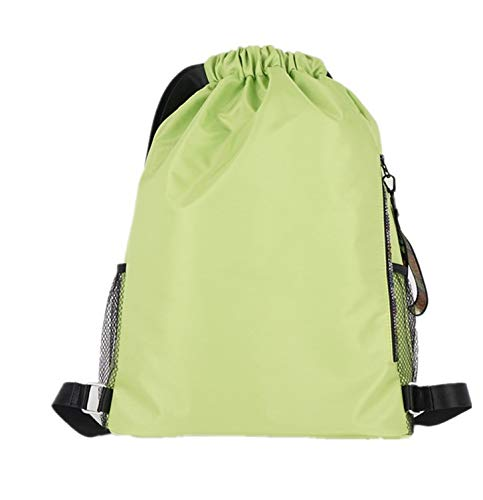 Fangoshop Basketball Bag Waterproof Drawstring Backpack Men And Women Sports Fluorescent green