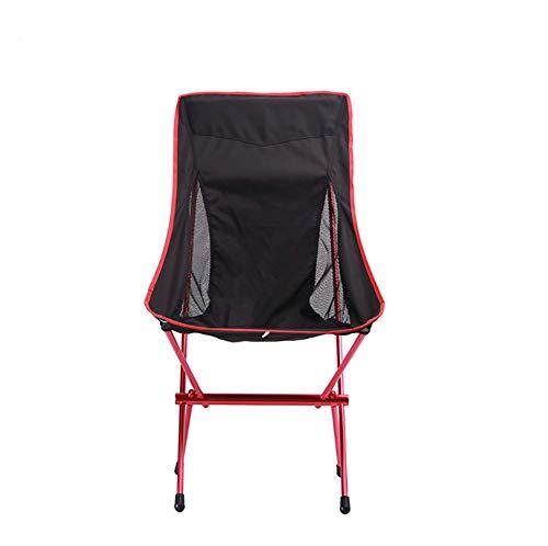 Im Freien tragbare Oxford Tuch Outdoor-Freizeit-Sessel Aviation Aluminium-Rohr Klappstuhl, rot