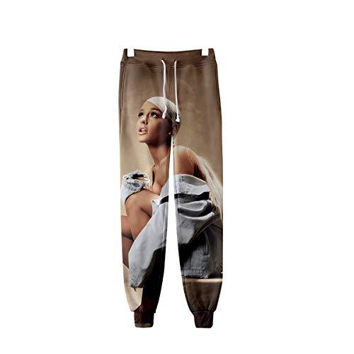 Unisex 3D HD gedrukte Ariana_Grande joggingbroek elastische taille trekkoord broek broek voor heren en dames (XXS-XXXXL),G,3XL