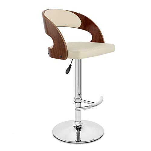 XQAQX kruk teller metaal verstelbaar stoelen stoelen zitten, keuken Pub massief houten barkruk met rugleuning Stool