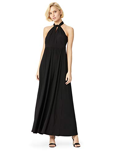 Amazon-Marke: TRUTH & FABLE Damen Maxi A-Linien-Kleid, Schwarz (Black), 38, Label:M