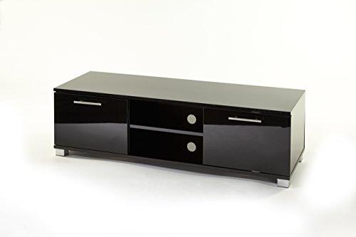 """Armadietto porta TV, per televisori smart a LED, LCD, 3D da 32""""a 50"""", dimensione: 1200mm di larghezza, colore: nero lucido con ante"""