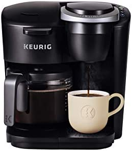 Keurig K Duo Essentials Coffee Maker with Single Serve K Cup Pod and 12 Cup Carafe Brewer Black product image