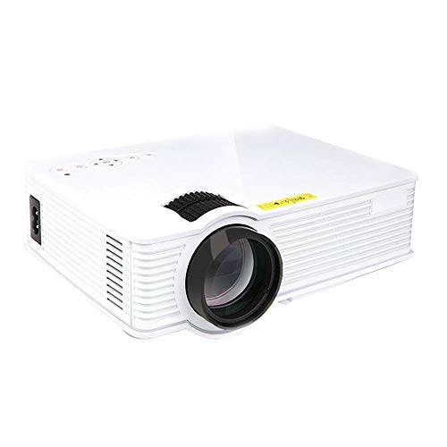 Mini Projector HD 4k Projector 100 Inch Unbounded Projection Screen Portable Home Theater Built-in Stereo Sound Mini Screenless Projection with Keystone Correction (Color : White) SZWHO