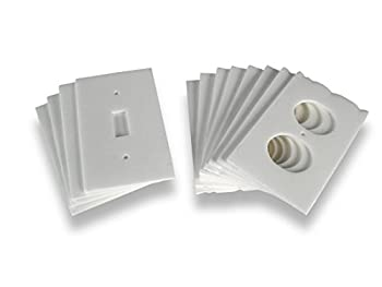 WJ Dennis & Company 12RS Electical Outlet Receptacle and Light Switch Seals 8 Receptacle Seals & 4 Light Switch Seals White