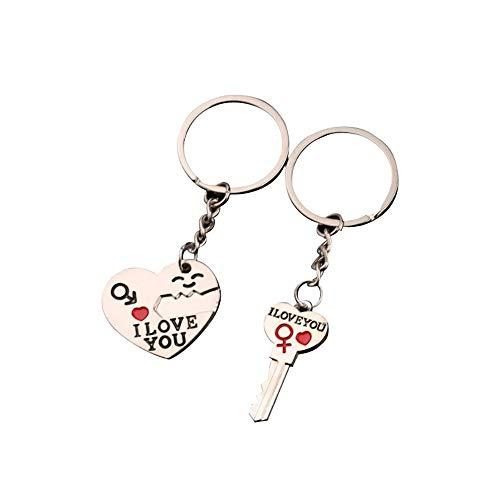 Paar Schlüsselbund Geschenk für Freund Freundin Liebhaber Schlüsselbund Schlüsselanhänger Souvenir Männer Frauen Zubehör