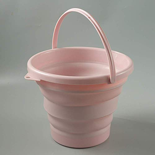 ccfgh Foldable Bucket-large Capacity 10 Liters Sturdy Foldable Silicone Bucket,foldable Water Container,with Comfortable Handle-neat Space Saving Garage Shed Home Bedroom Solution