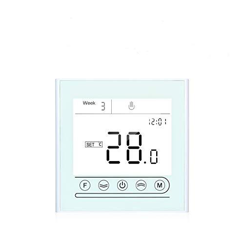Kecheer Termostato wifi caldaia gas acqua intelligente,Termostati digitali per riscaldamento,cronotermostato wireless compatibile con Alexa Google Home,Tuya APP