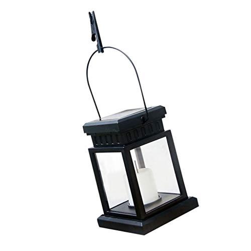 Solarlaterne zum aufhängen, Gartenlampe Außenbeleuchtung für Balkon/Terrasse/Wand/Baum/Zaun Deko und Beleuchtung - Schwarz