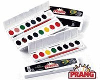 Prang OVL16 Semi-Moist Oval 16 Water Color Sets with Brush