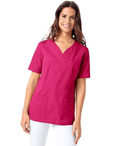 CLINIC DRESS Schlupfkasack Damen-Schlupfkasack mit Passennaht 1/2 Arm Regular Fit 95° Wäsche pink M