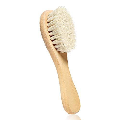 Bsioff Cepillo de pelo para bebé con mango de madera y cerdas...