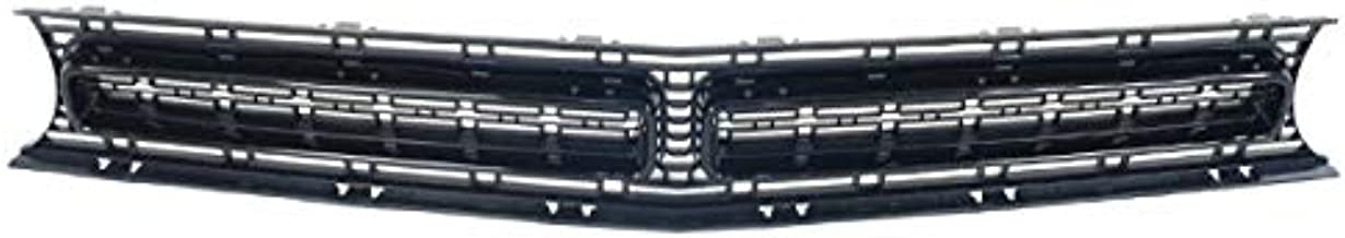 Partomotive For 15-19 Challenger 6.4L Coupe Front Face Bar Grill Grille Assembly w/Black Molding
