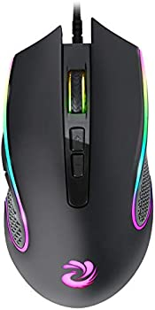 aMZCaSE RGB Optical Wired Mouse with 7 Buttons (Dark Black)