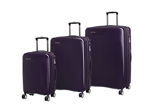 it luggage 3 Piece Set of Signature 8 Wheel Hard Shell Single Expander Suitcases with TSA Lock Suitcase, 79 cm, 294 liters,Purple