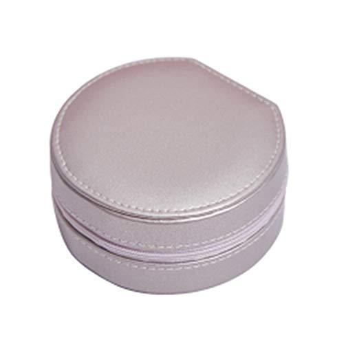 SXYL Cajas de joyería portátil, Caja de Almacenamiento de Mujeres, Impermeable y Resistente al Desgaste, para Pendiente, Brazalete, Pulsera, Collar, Anillos