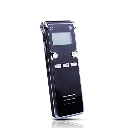 LYB 8GB Mini Grabadora Profesional Activada por Voz, Reducción de Ruido HD Grabadora de Voz Inteligente en Miniatura MP3 Reproductor de Larga Espera, Pequeños Dispositivos de Grabación