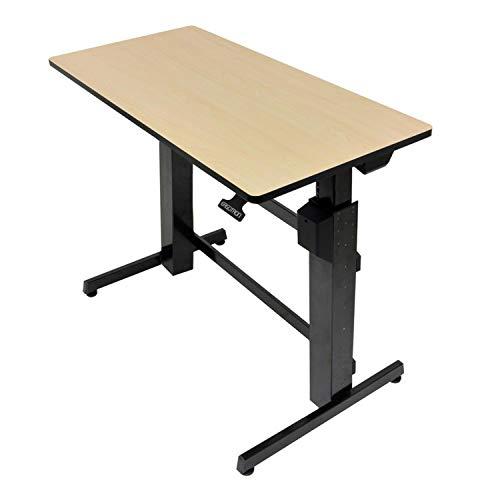 エルゴトロン WorkFit-D 座位・立位両用 昇降デスク バーチウッドグレイン 24-271-928