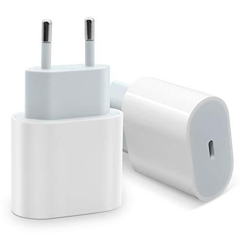 Cargador rápido USB C de 20 W, adaptador de corriente tipo C, Quick Charge PD 3.0, compatible con iPhone 12 Mini Pro Max 11, iPad Pro, Huawei Samsung Galaxy