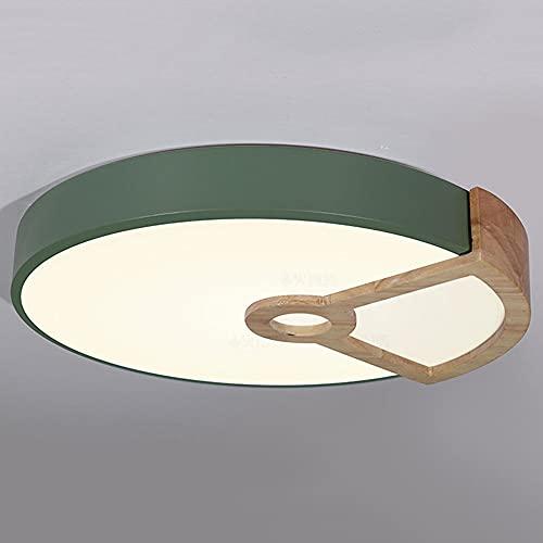 CHENKUI Luz De Techo LED De Ahorro De Energía Ajustable De 3 Colores Accesorio De Techo De Instalación Empotrado Moderno Lámpara Plana Redonda Color Macaron para Porches, Pasillos, Guardarropas