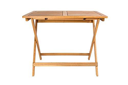 SAM Akazien-Holz Massiv Gartentisch 80x60 cm, Blossom, FSC® 100% Zertifiziert, für Ihren Balkon, Terrasse oder Garten