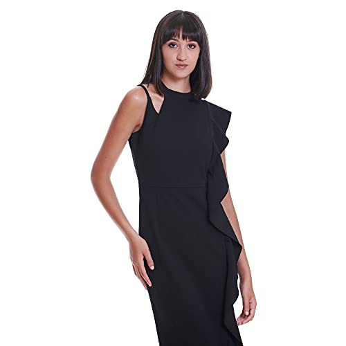 TONALA | Vestido Corto Mujer Fiesta Boda Evento Recto Entallado Hombro Descubierto...