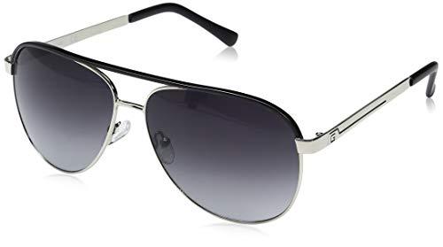 GUESS GF0172 Silver/Black Line/Smoke Gradient Lens One Size