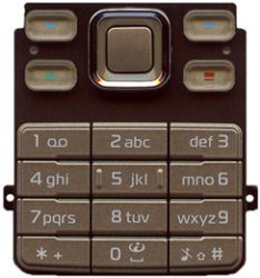 Nokia 6300, 6301 Keypad Keyboard Gold