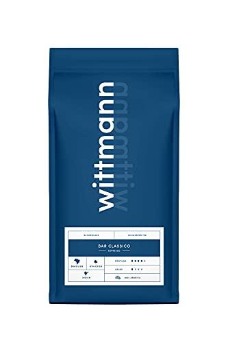 Wittmann Kaffee Bar Classico, 1kg, ganze Bohne, dunkle Röstung nach Triestiner Art, schokoladig & würzig, säurearm, ideal für Kaffee aus Siebträger & Vollautomaten, DLG-prämiert