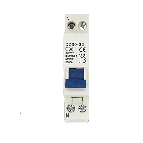 LUOXUEFEI Disyuntor Diferencial Interruptor Disyuntor1P NMcb 10A 16A 20A 25A 32A