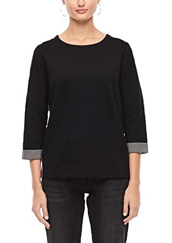 s.Oliver Damen 14.909.41.2832 Sweatshirt, Schwarz (Black 9999), (Herstellergröße:36)