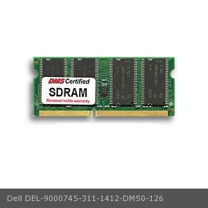 DMS Data Memory Systems Replacement for Dell 311-1412 Latitude C600 1GHz 128MB DMS Certified Memory 144 Pin PC100 16x64 SDRAM SODIMM (8X16) - DMS 144 Pin Pc100 Sdram Sodimm