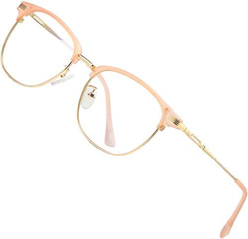 ATTCL Unisex blaulichtfilter brille computerbrille zum Blockieren von UV-Kopfschmerz [Verringerung der Augenbelastung] Gaming Brille,(Herren/Damen) 5054-Pink