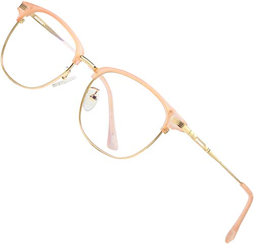 ATTCL Unisex Blue Light Blocking Glasses Eyeglasses Frame Anti Blue Ray Computer Game Glasses 5054-Pink Eyewear Frames Shops