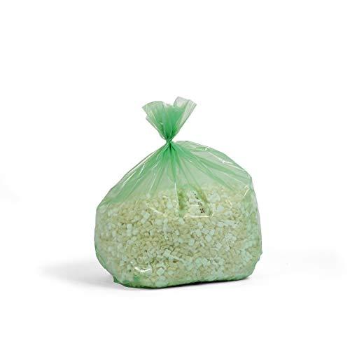 Sacs-poubelle en polyéthylène - capacité 240 l - jaune-transparent, lot de 100 - sac pour déchets sac pour poubelle sac à ordures sac à poubelle sac-poubelle sac-poubelle à lanières coulissantes