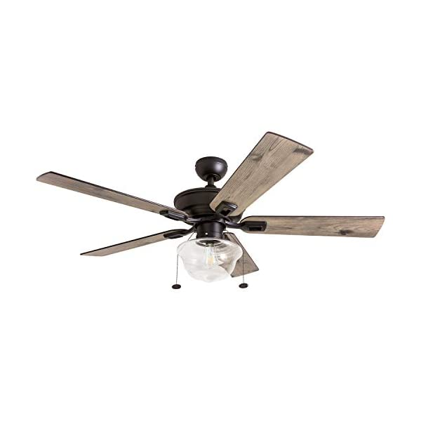 Prominence Home 80091-01 Abner Vintage Indoor/Outdoor Ceiling Fan, ETL Damp Rated...