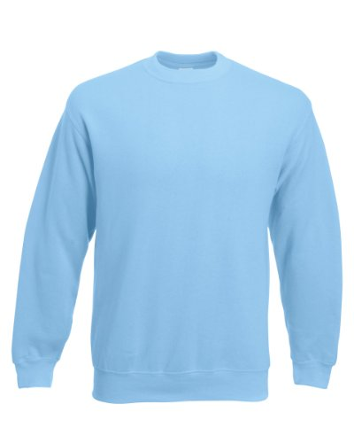 Fruit of the Loom Men's 62-202-0 Pullover Sweater, Sky Blue, XL