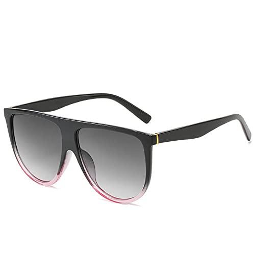 MIMITU Gafas de sol de moda 2021 para mujer, gafas de sol de gran tamaño vintage, piloto cuadrado, grandes sombras negras, negro rosa