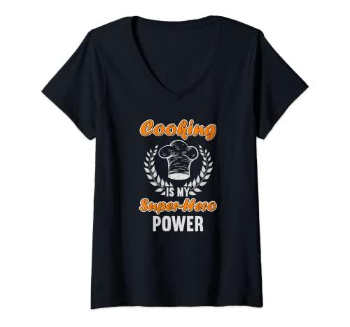 Mujer Cocinar es mi poder de superhéroe...