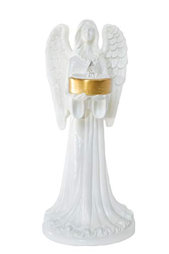 Solar Angel Figurine is a Light up Angel, Suitable as a Grave Decorations for Cemetery, Funeral Gifts, Memorial Gifts, Angel Ornaments Remembrance or Thoughtful Sympathy Gift
