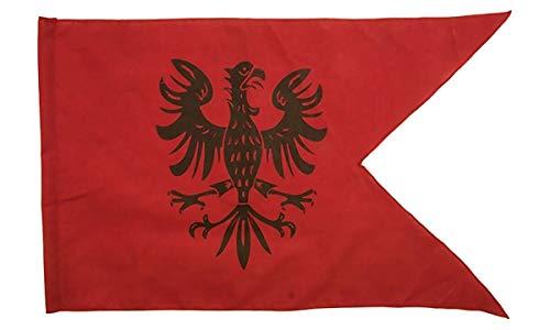 Ritterfahne 50x30cm Adler rot