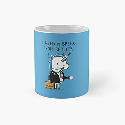 Need A Break Classic Mug Best Gift Funny Coffee Mugs 11 Oz