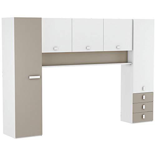 Miroytengo Armario Puente Tidy habitación Infantil Juvenil Dormitorio Estilo Moderno Almacenamiento 203x304x54 cm