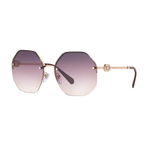 Bulgari Sonnenbrille BV6122B 2014U6 gold lila größe 58 mm brille für damen